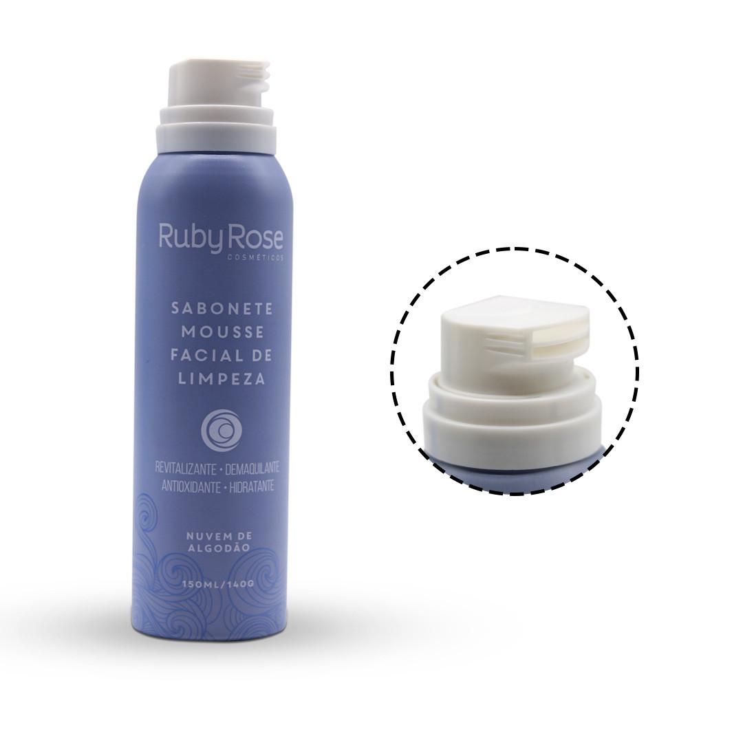 Sabonete Mousse Ruby Rose Facial de Limpeza Nuvem de Algodão - 150ml