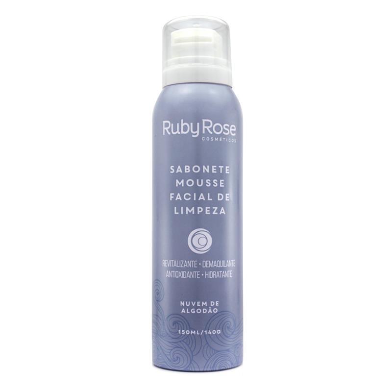 Sabonete Nuvem de Algodão Ruby Rose - Mousse Facial de Limpeza 150ml