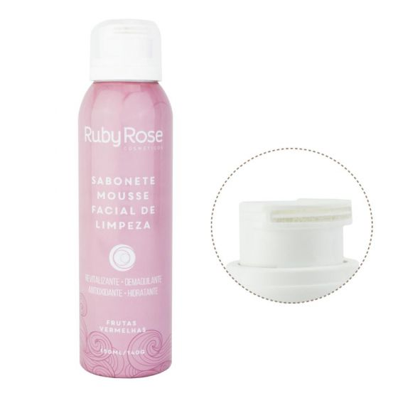 Sabonete Ruby Rose - Mousse Facial de Limpeza 150ml