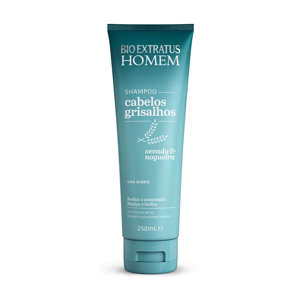 Shampoo Bio Extratus Homen Cabelos Grisalhos Cevada e Nogueira - 250ml