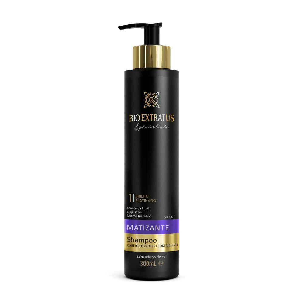 Shampoo Bio Extratus Matizante Brilho Platinado - 300ml