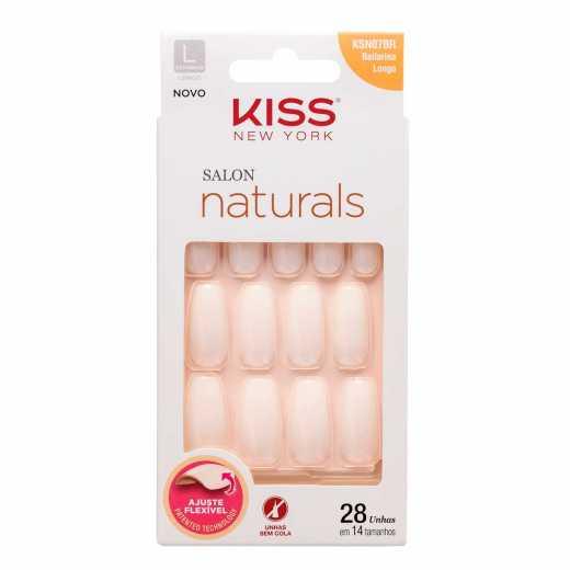 Unhas Postiças Kiss New York Salon Naturals - Bailarina Longo