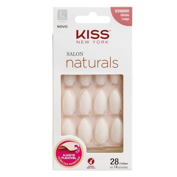 Unhas Postiças Kiss New York Salon Naturals - Stiletto Longo
