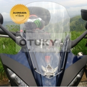 Bolha para Moto Fazer 600 FZ 6 S 2007 2008 2009 2010 Alongada +15cm Otuky