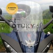 Bolha para Moto Fazer 600 FZ 6 S 2007 2008 2009 2010 Otuky Alongada +15cm Cristal