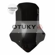 Bolha para Moto Ténéré 250 Xtz 2011 2012 2013 2014 2015 2016 2017 2018 Otuky Alongada 46cm Preto