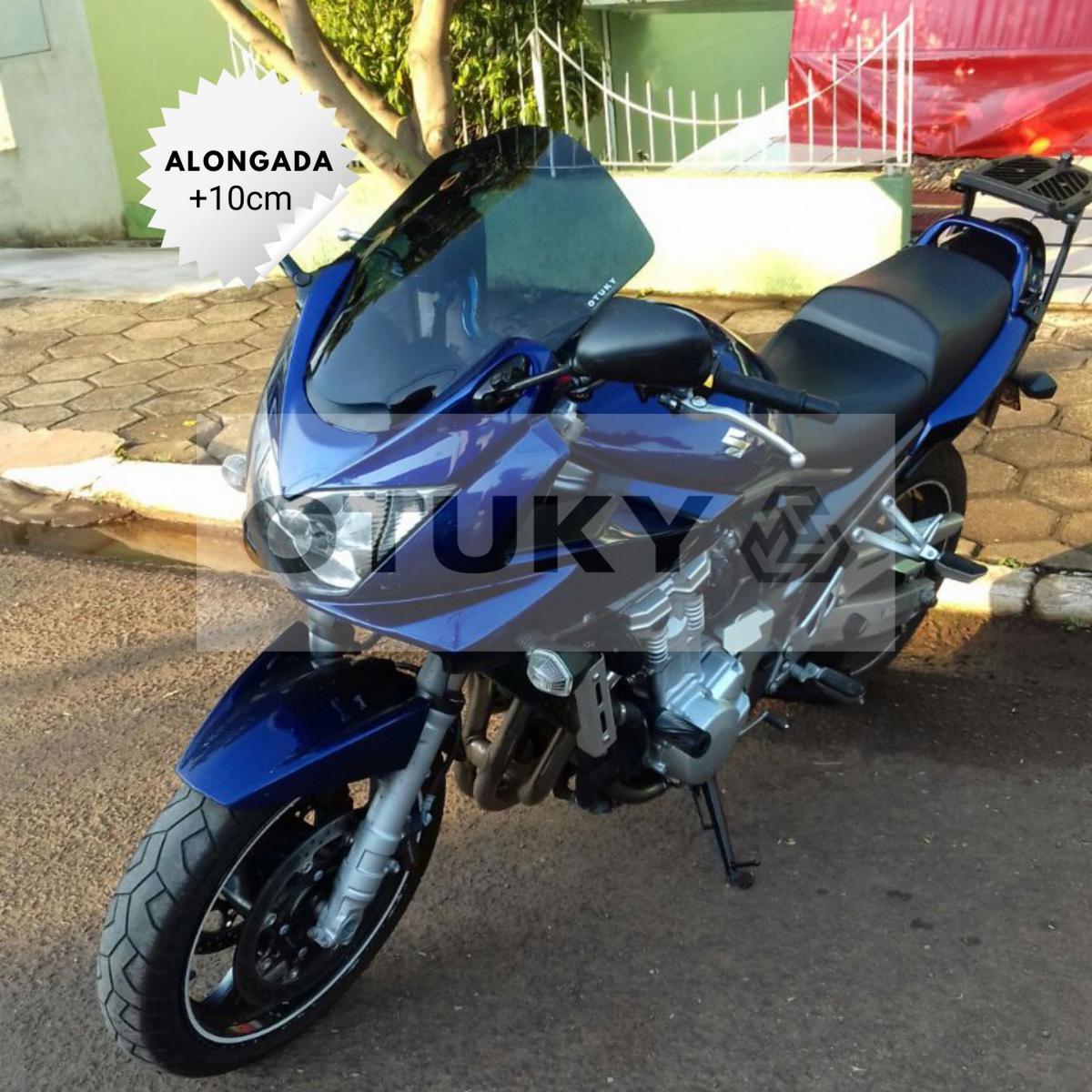 Bolha para Moto Bandit 650 S 2005 2006 2007 2008 2009 2010 Alongada +10cm