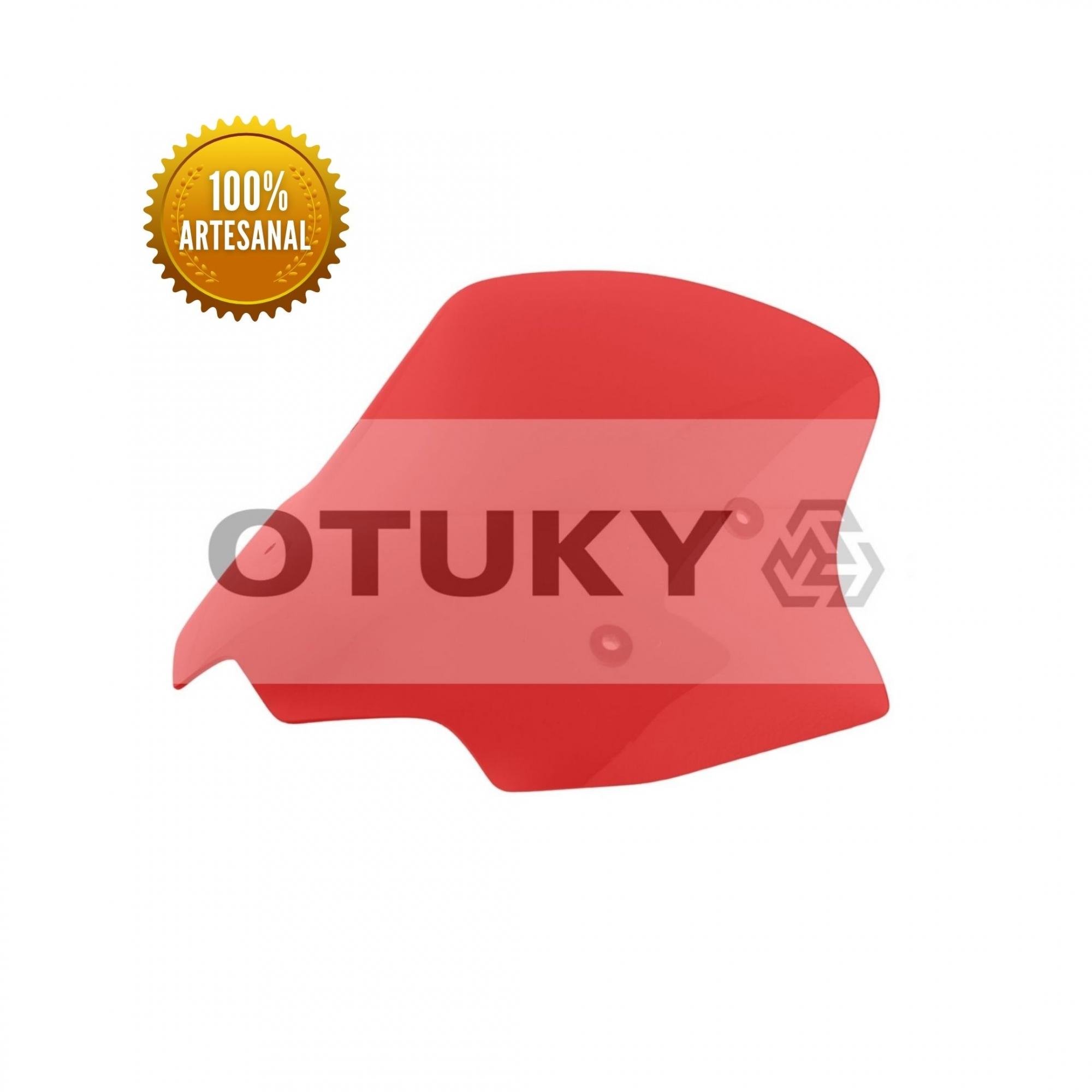 Bolha para Moto CB 500 X 2014 2015 2016 2017 Otuky Padrão Vermelho