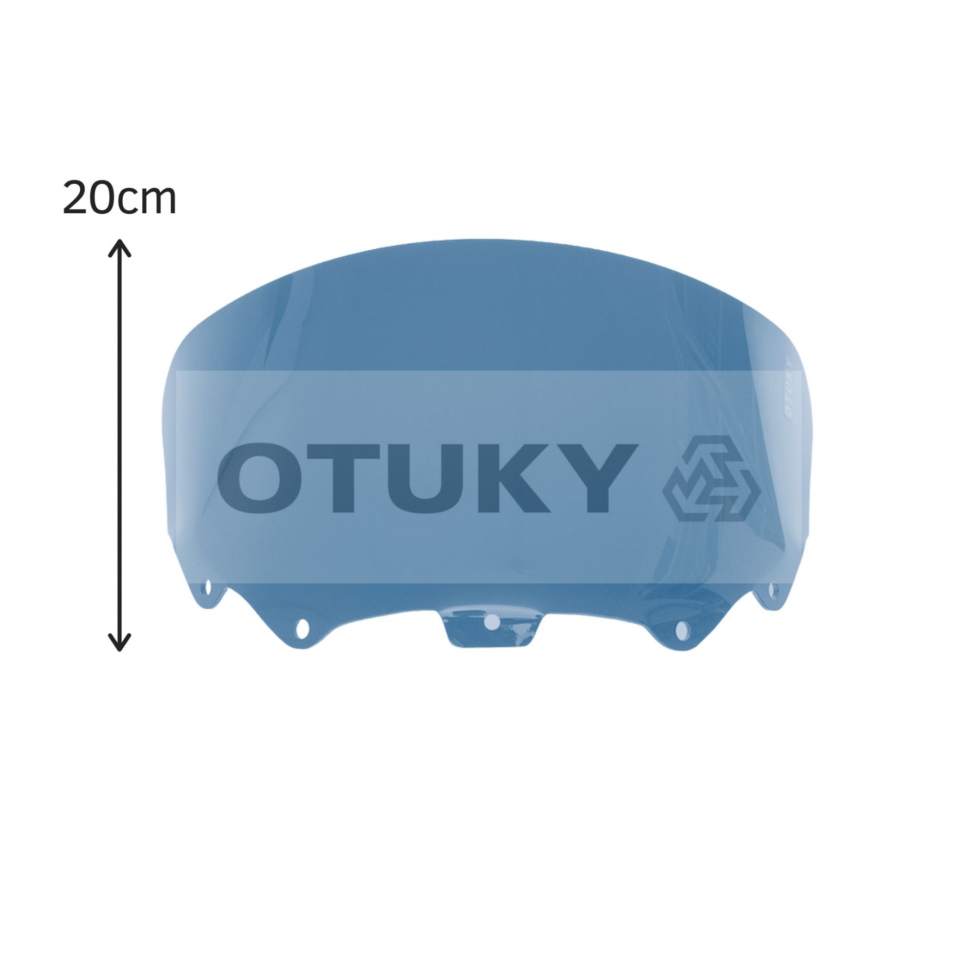 Bolha para Moto Citycom 300i Otuky Menor Fumê Escuro