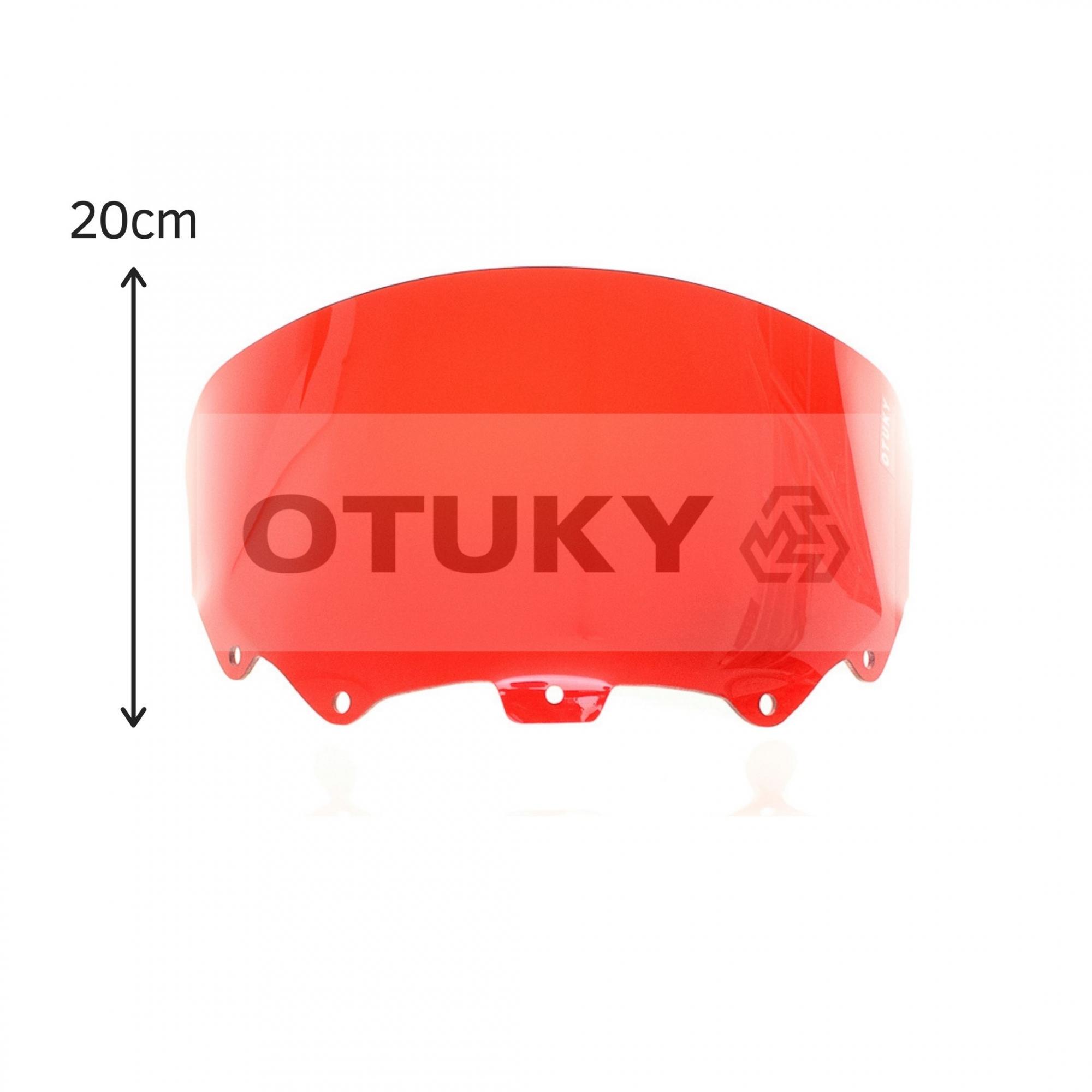 Bolha para Moto Citycom 300i Otuky Menor Vermelho