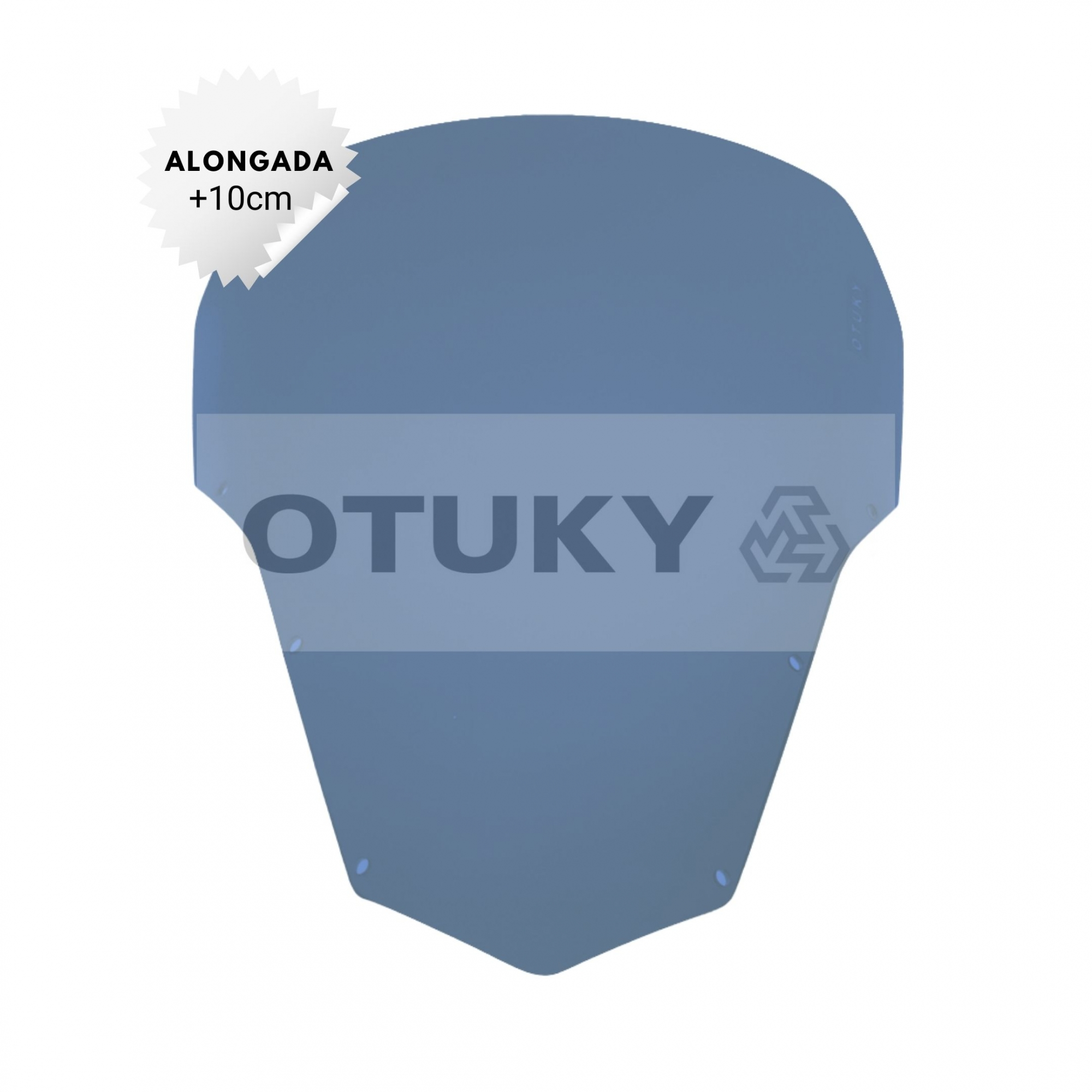 Bolha para Moto Fazer 600 FZ 6 S 2007 2008 2009 2010 Alongada +10cm Otuky