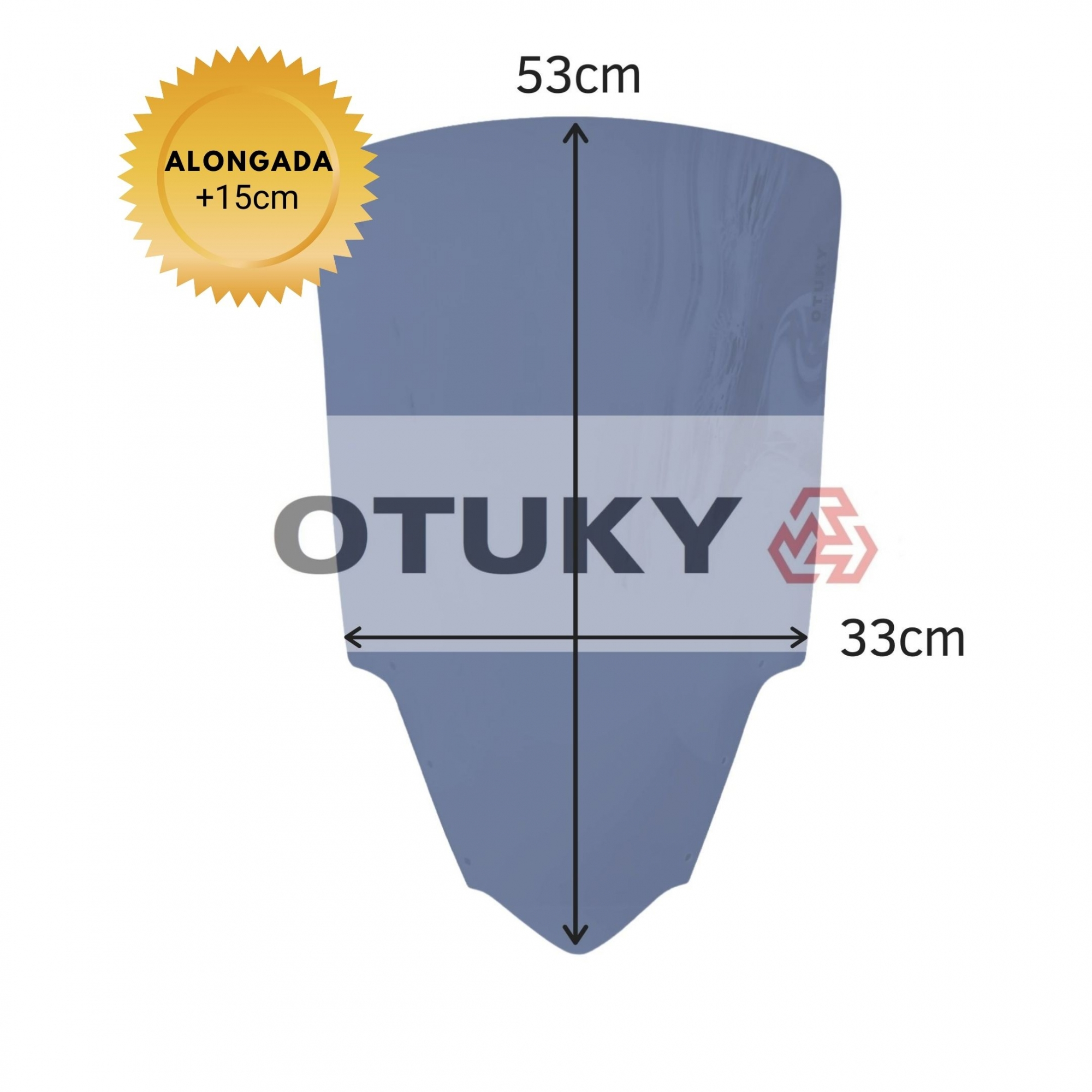 Bolha para Moto Fazer 600 FZ 6 S 2007 2008 2009 2010 Otuky Alongada +15cm Fumê Escuro