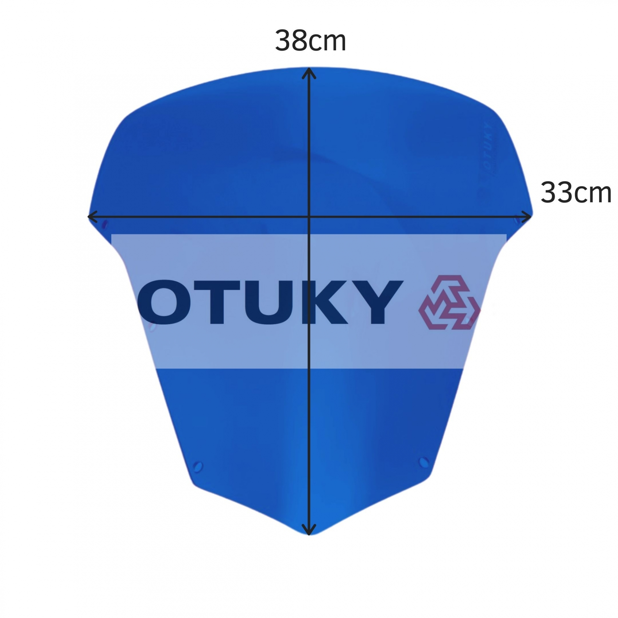 Bolha para Moto Fazer 600 FZ 6 S 2007 2008 2009 2010 Otuky Azul Escuro