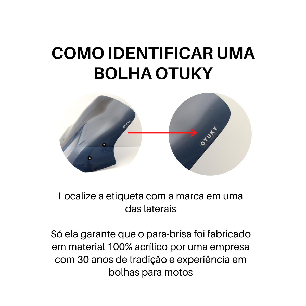 Bolha para Moto GSX 1300 R Hayabusa 2008 2009 2010 2011 2012 2013 2014 2015 2016 2017 2018 Otuky Fumê Escuro Azulado