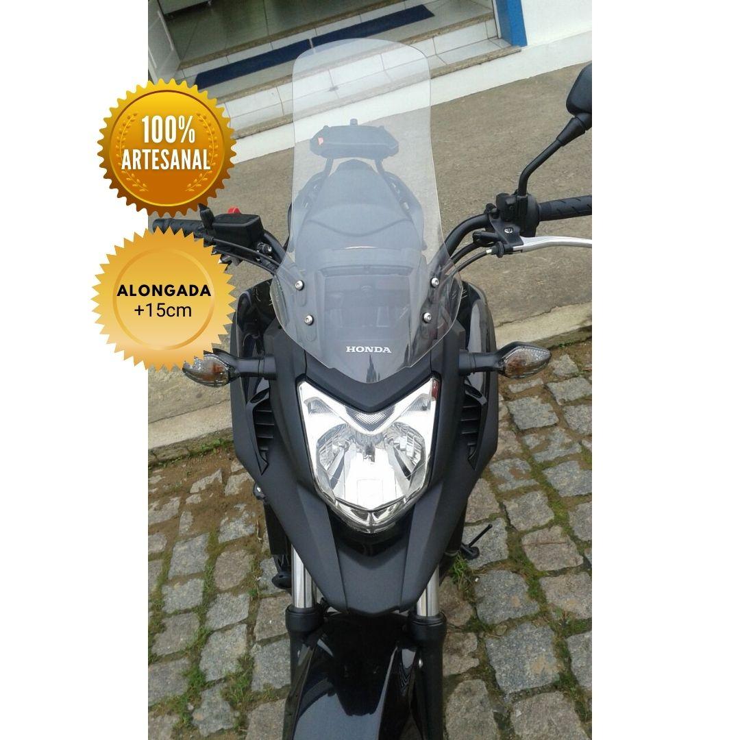 Bolha para Moto NC 700 X Otuky Alongado +15cm Cristal