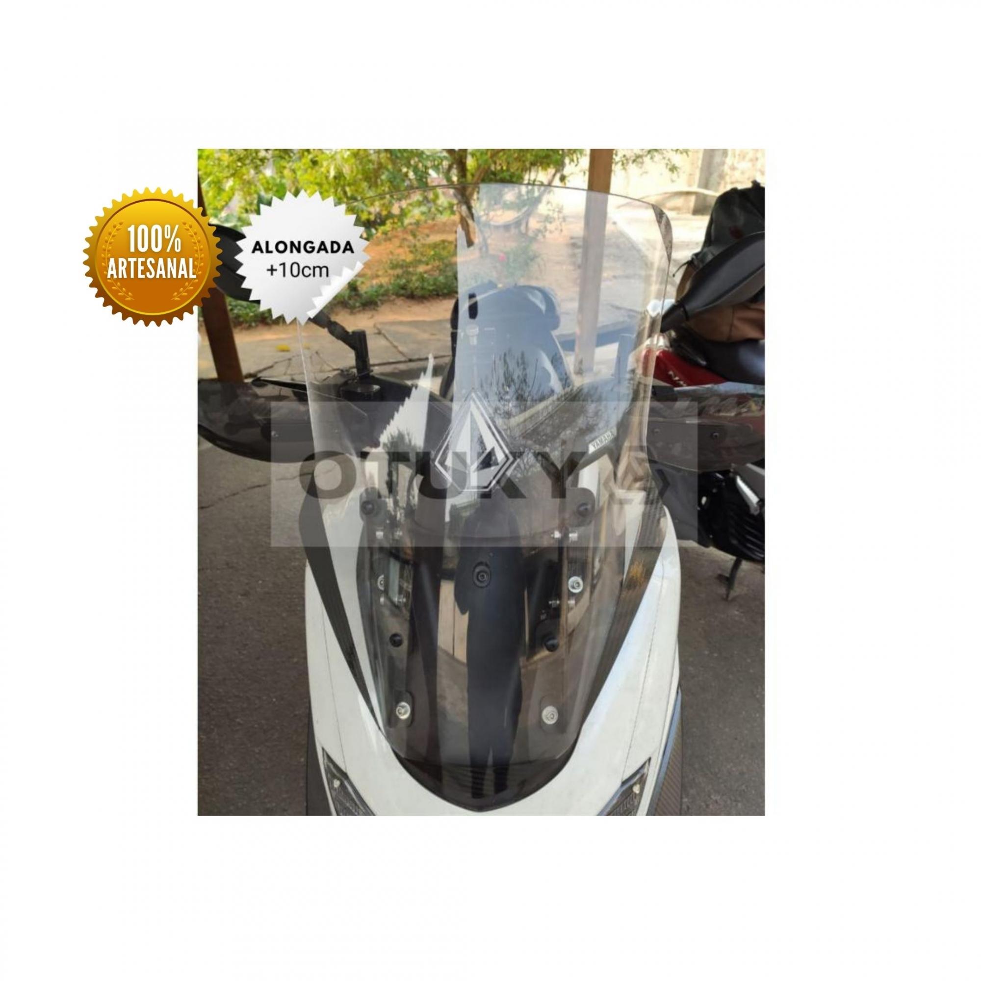 Bolha para Moto Nmax 160 2017 2018 2019 2020 Otuky Alongada Cristal