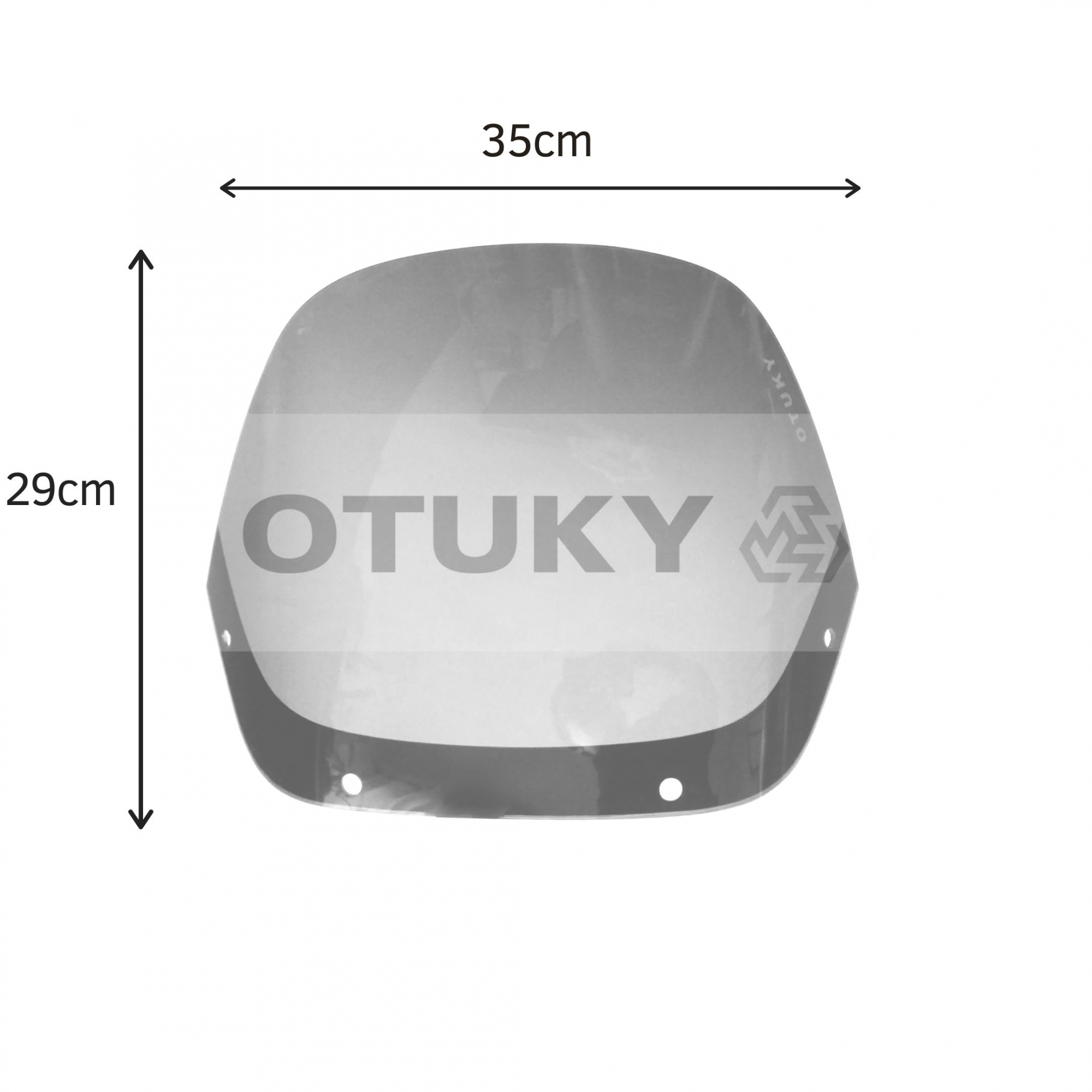 Bolha para Moto NX 350 Sahara Tamanho Padrão Otuky Fumê Cinza