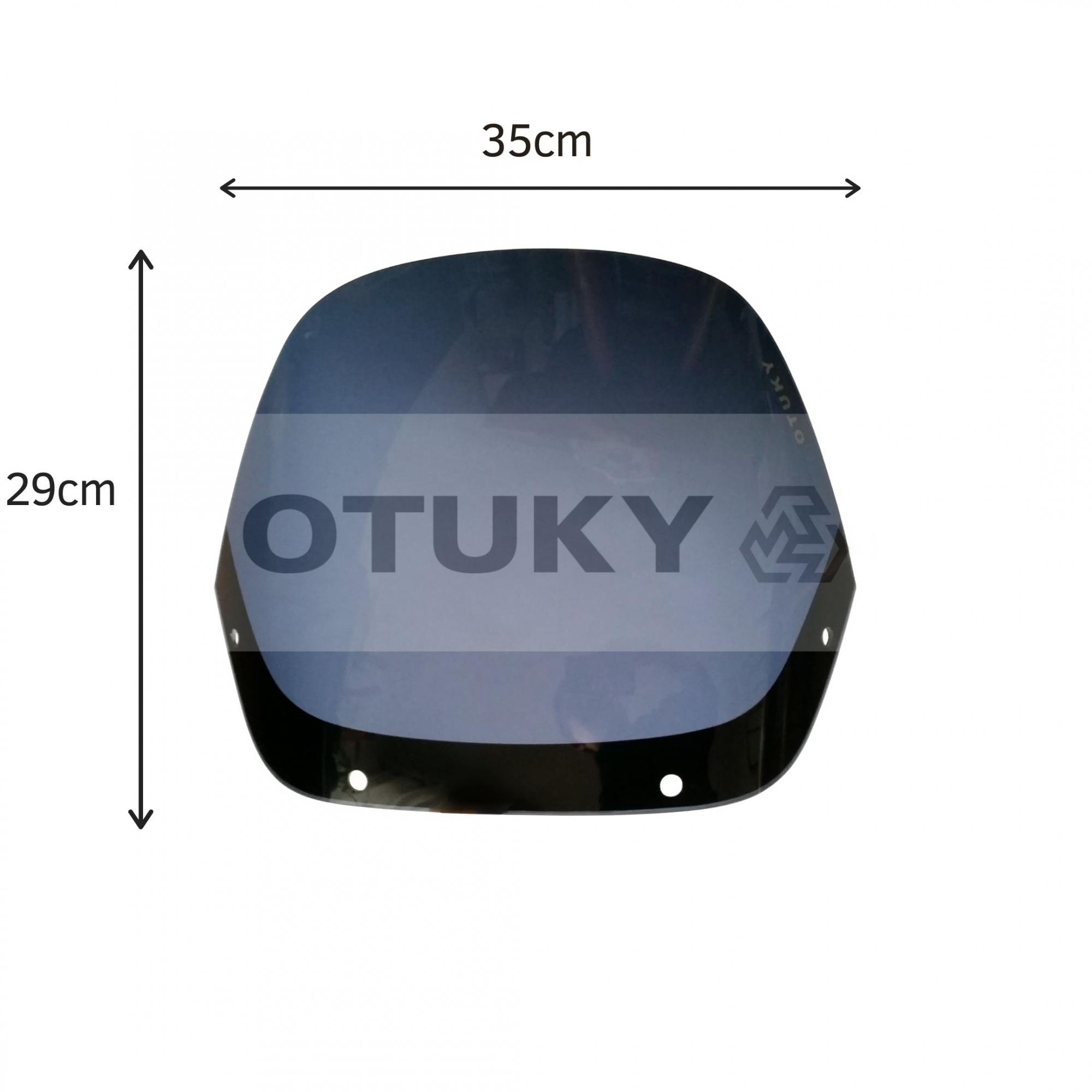 Bolha para Moto NX 350 Sahara Tamanho Padrão Otuky Fumê Escuro
