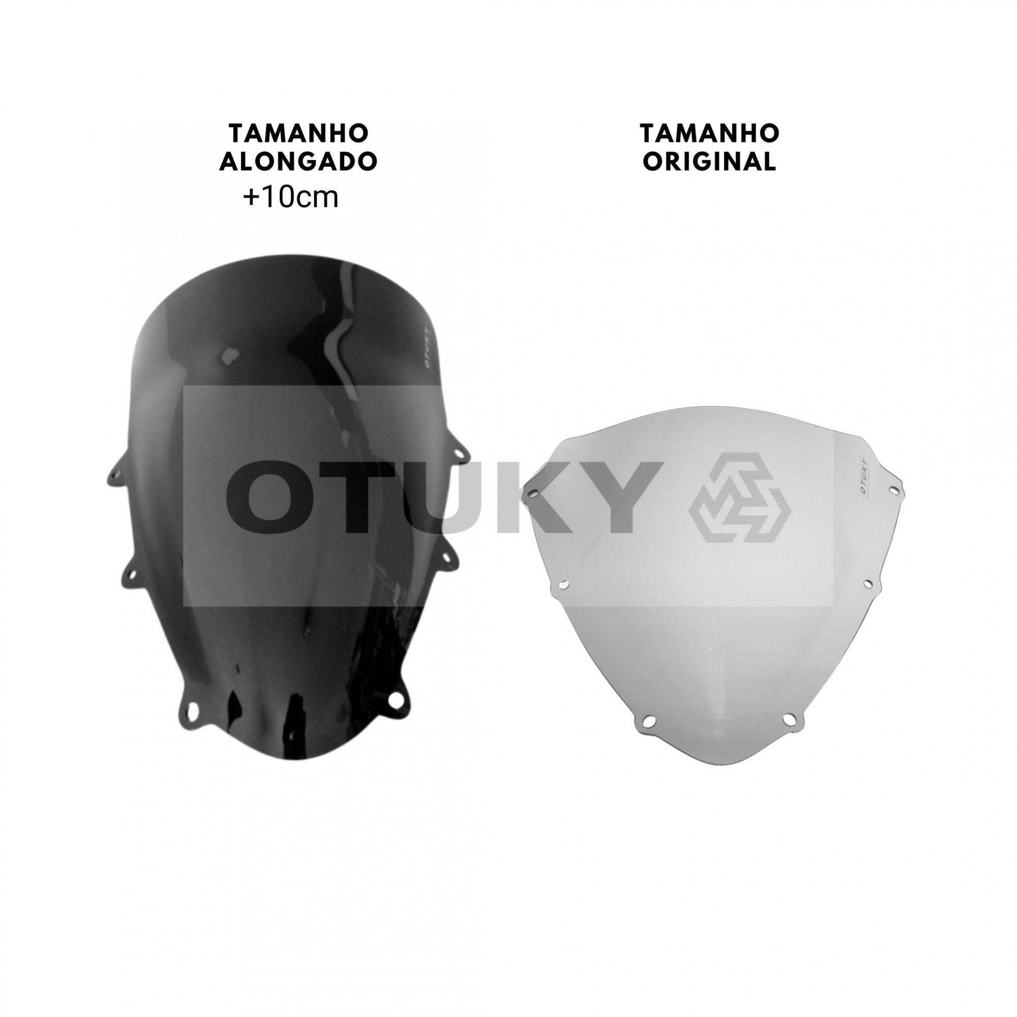 Bolha para Moto Srad 750 GSX-R 2010 2011 2012 2013 Alongada +10cm Otuky