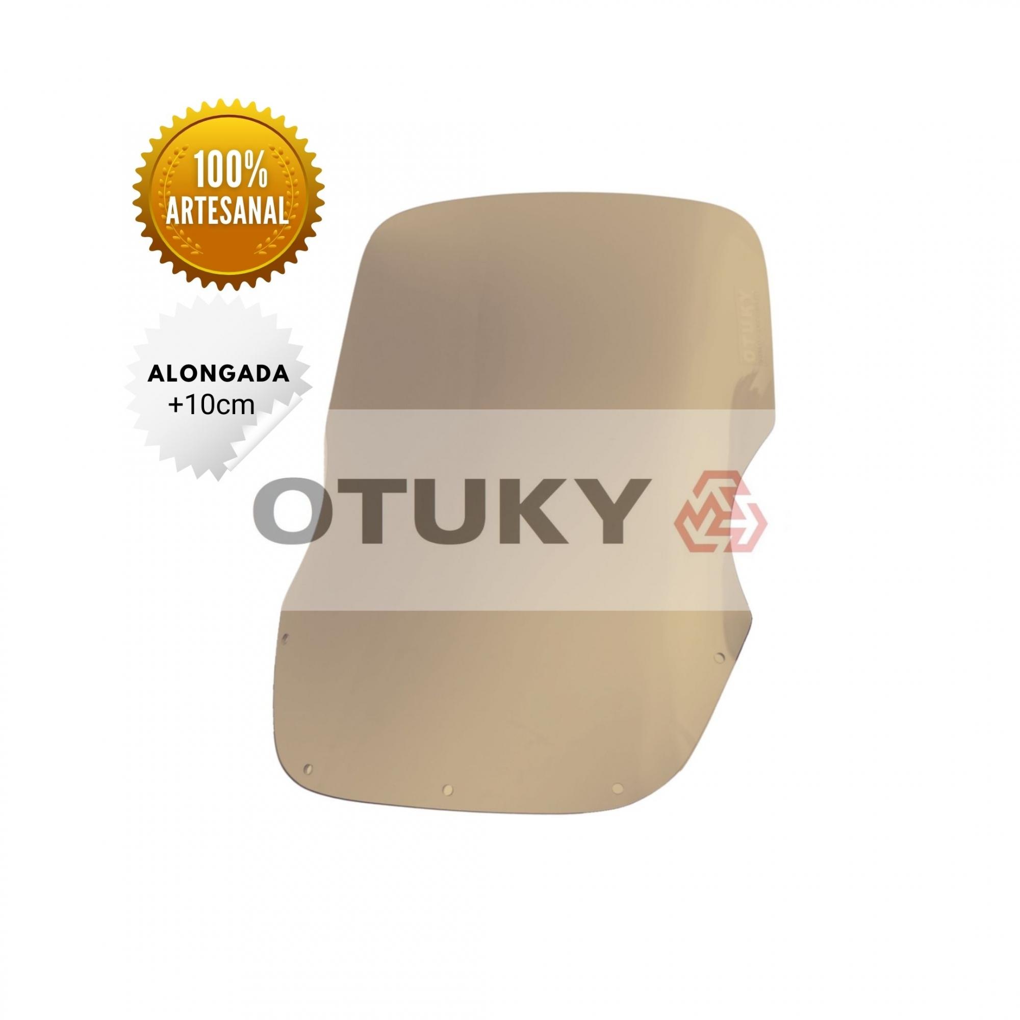 Bolha para Moto Super Ténéré XTZ 750 Otuky Alongada Fume Marrom