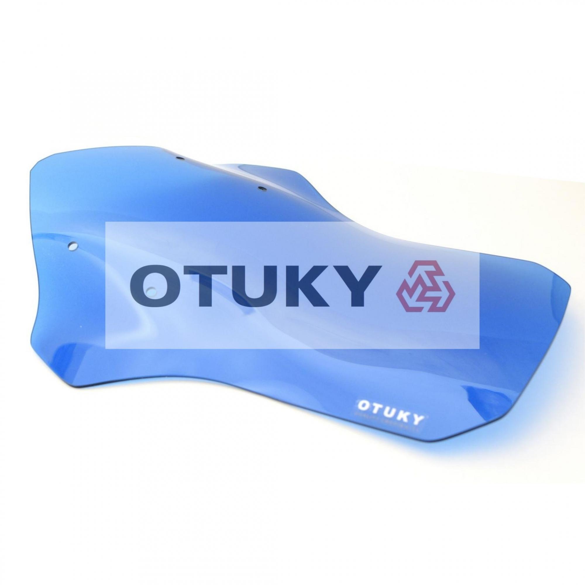 Bolha para Moto Ténéré 250 Xtz 2011 2012 2013 2014 2015 2016 2017 2018 Otuky Alongada 46cm Azul-Claro