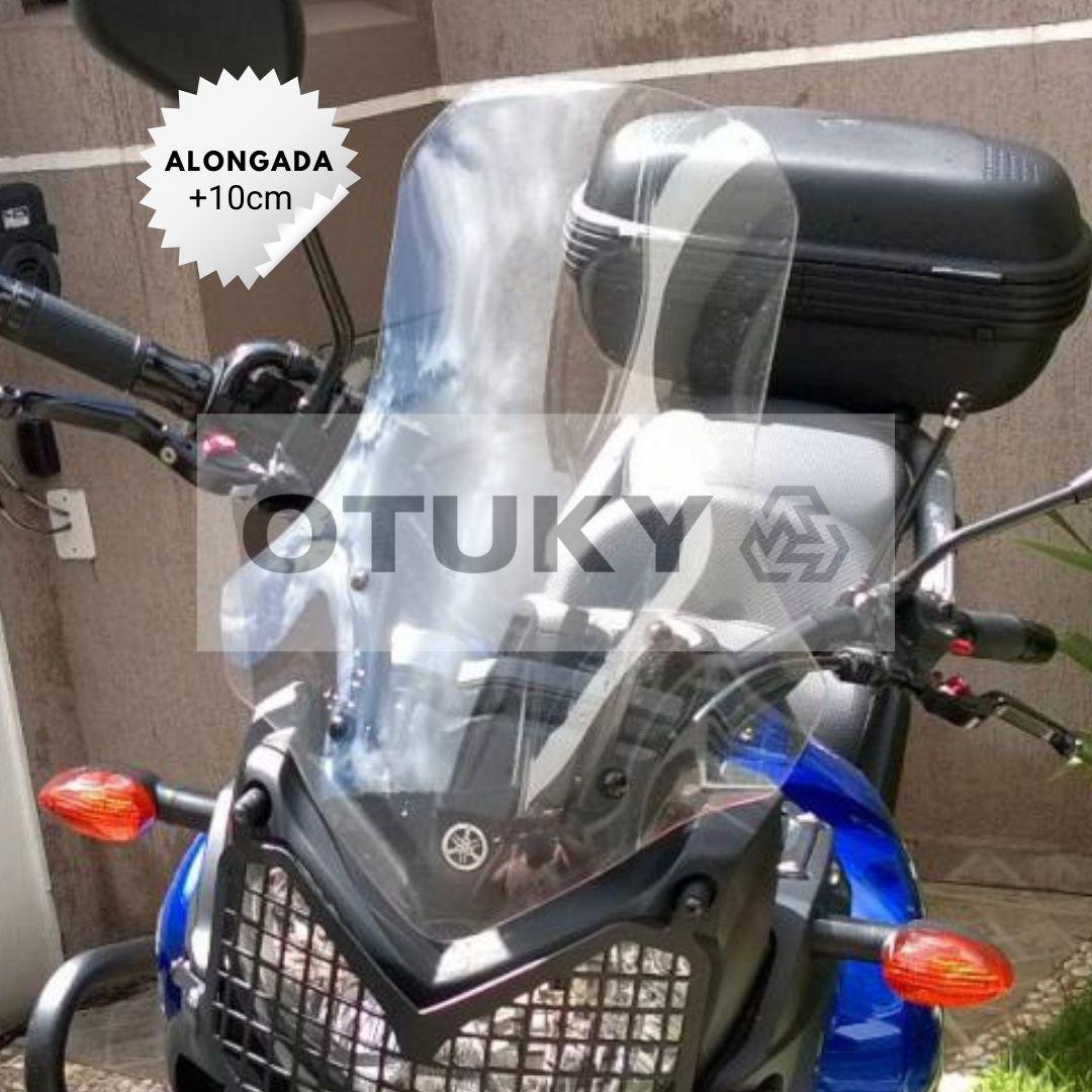 Bolha para Moto Ténéré 250 Xtz 2011 2012 2013 2014 2015 2016 2017 2018 Otuky Alongada 46cm Cristal