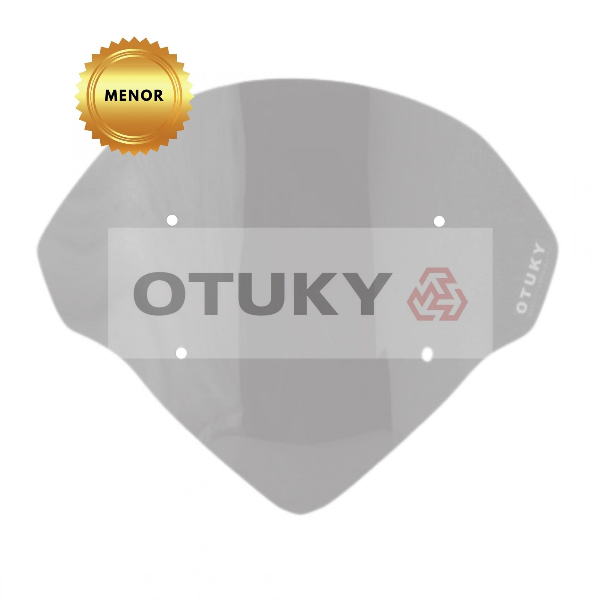 Bolha para Moto Ténéré 250 Xtz 2011 2012 2013 2014 2015 2016 2017 2018 Otuky Menor Fumê Cinza