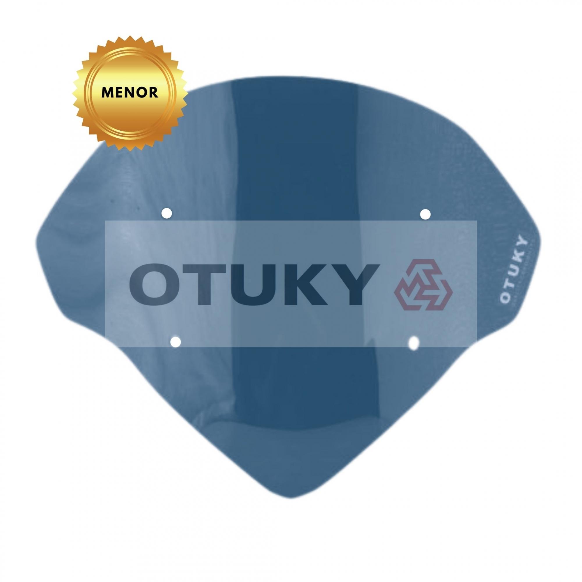 Bolha para Moto Ténéré 250 Xtz 2011 2012 2013 2014 2015 2016 2017 2018 Otuky Menor Fumê Escuro