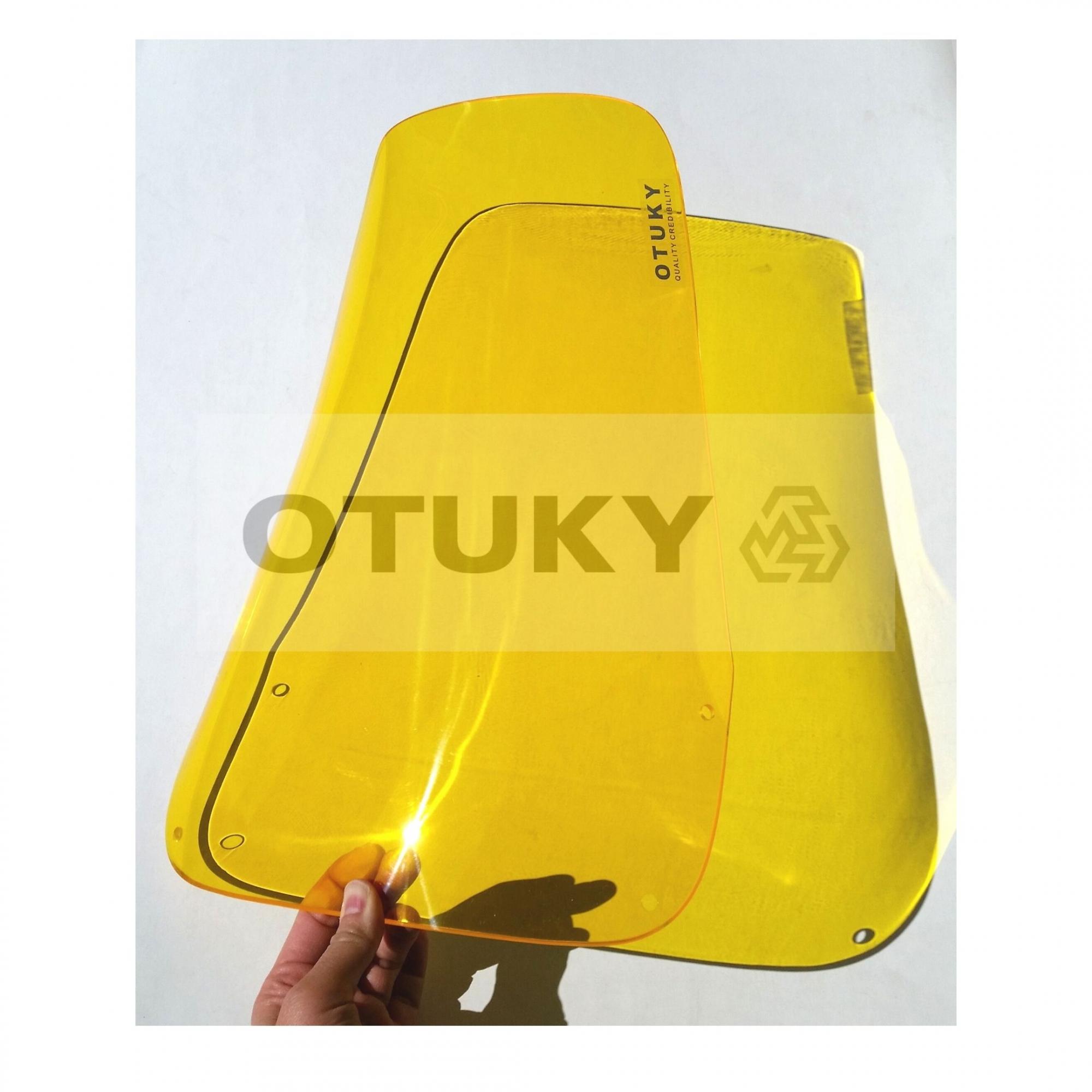 Bolha para Moto Ténéré 600 2 Farois Otuky Alongada +10cm Amarelo