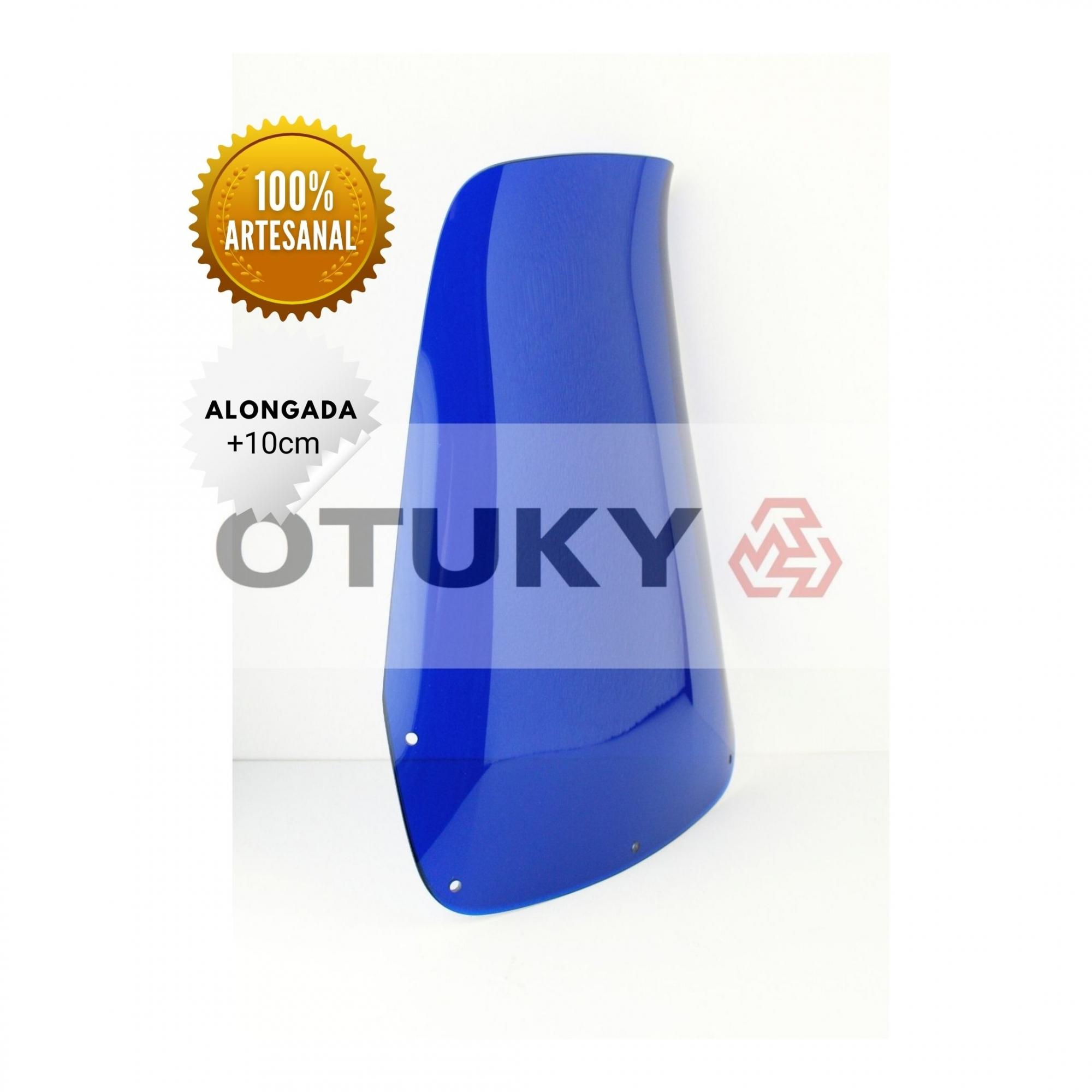 Bolha para Moto Ténéré 600 2 Farois Otuky Alongada +10cm Azul Escuro