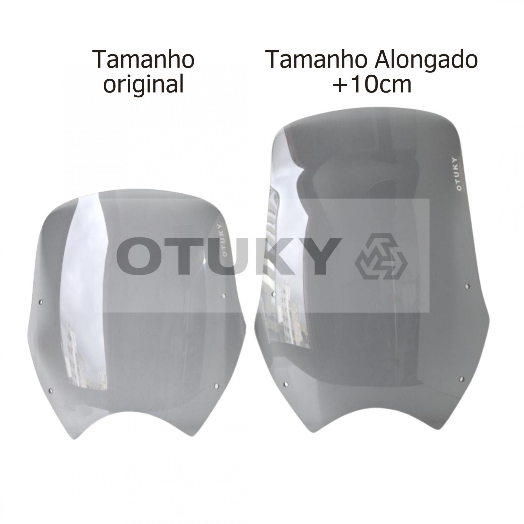 Bolha para Moto Transalp XL 700 V Otuky Alongada Fume Cinza