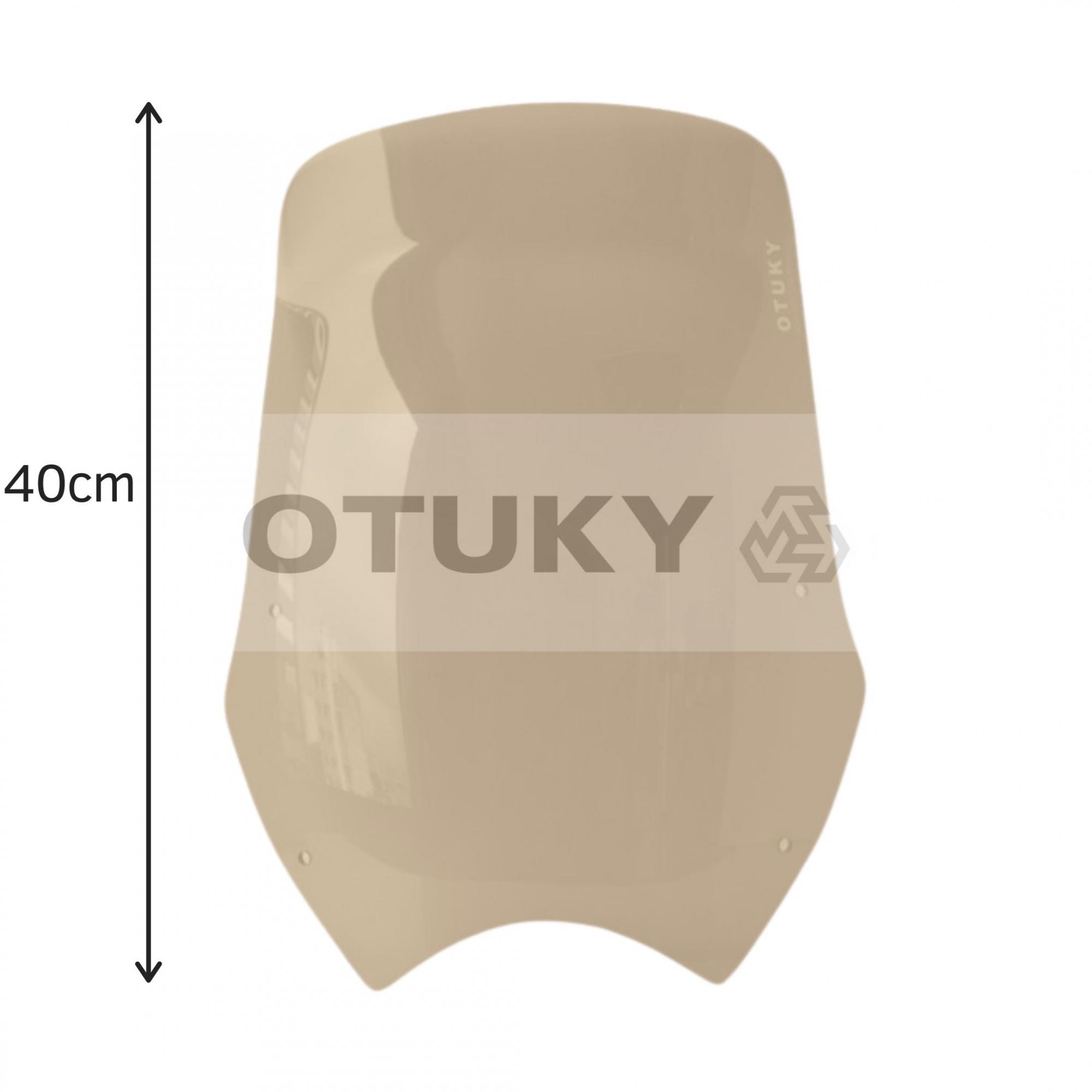 Bolha para Moto Transalp XL 700 V Otuky Alongada Fume Marrom