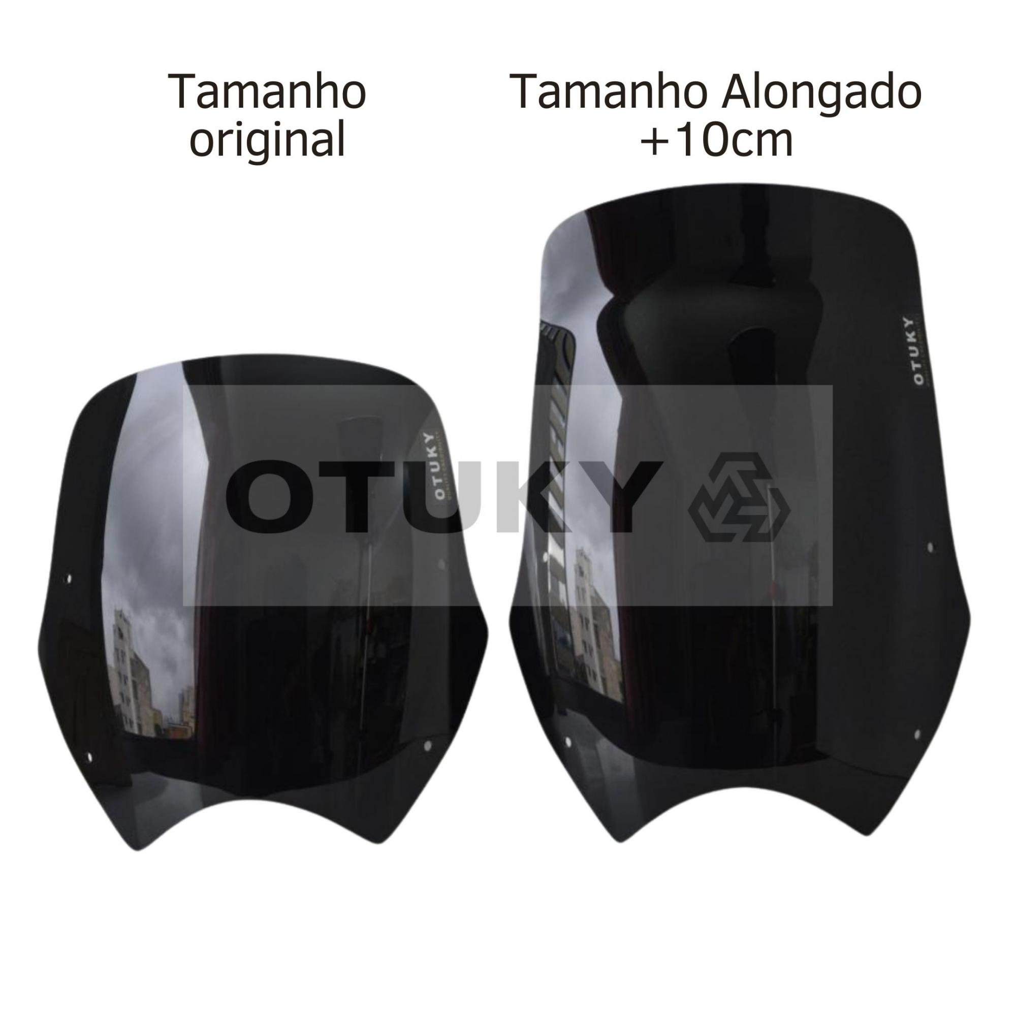 Bolha para Moto Transalp XL 700 V Otuky Alongada Preto