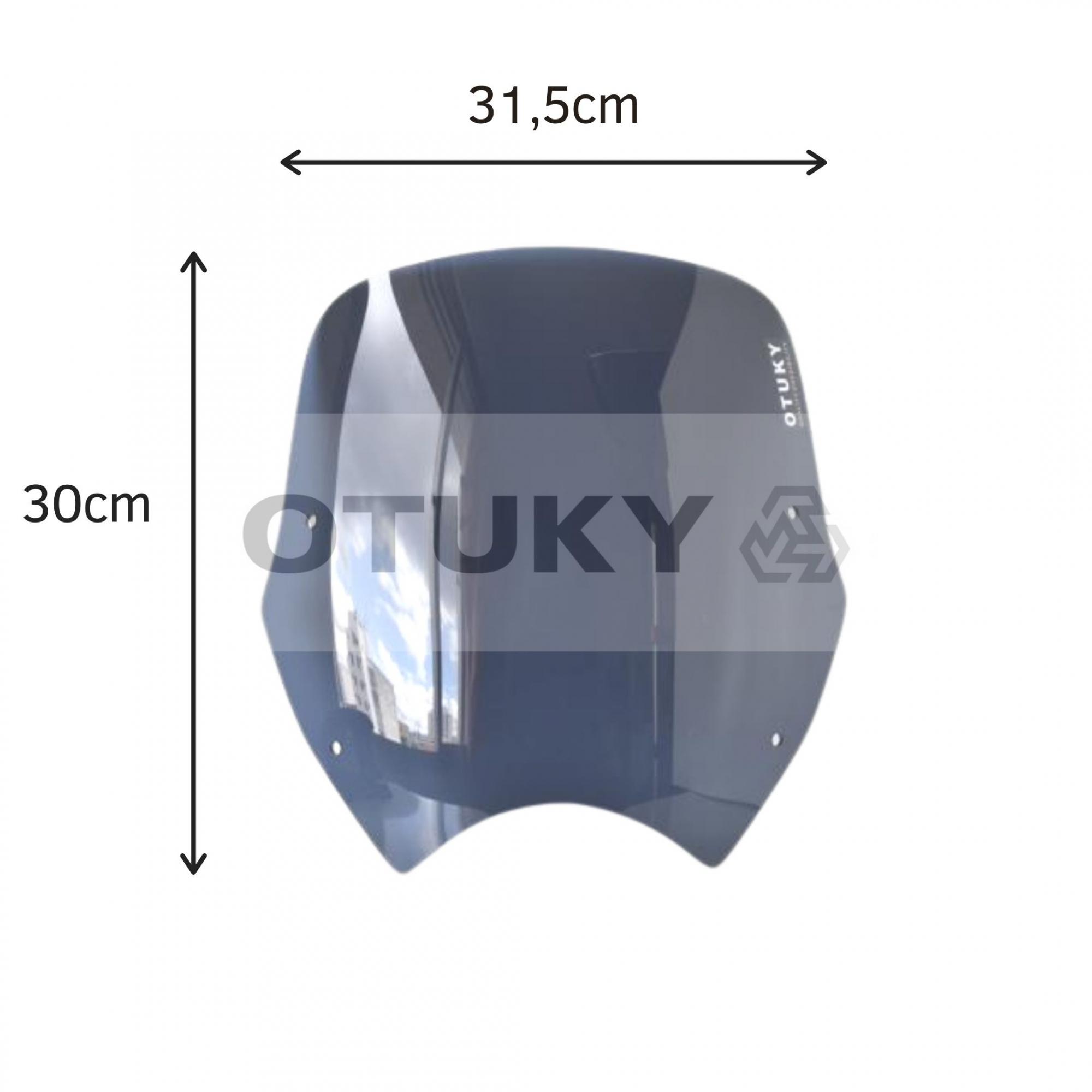 Bolha para Moto Transalp XL 700 V Otuky Padrão Fumê Escuro