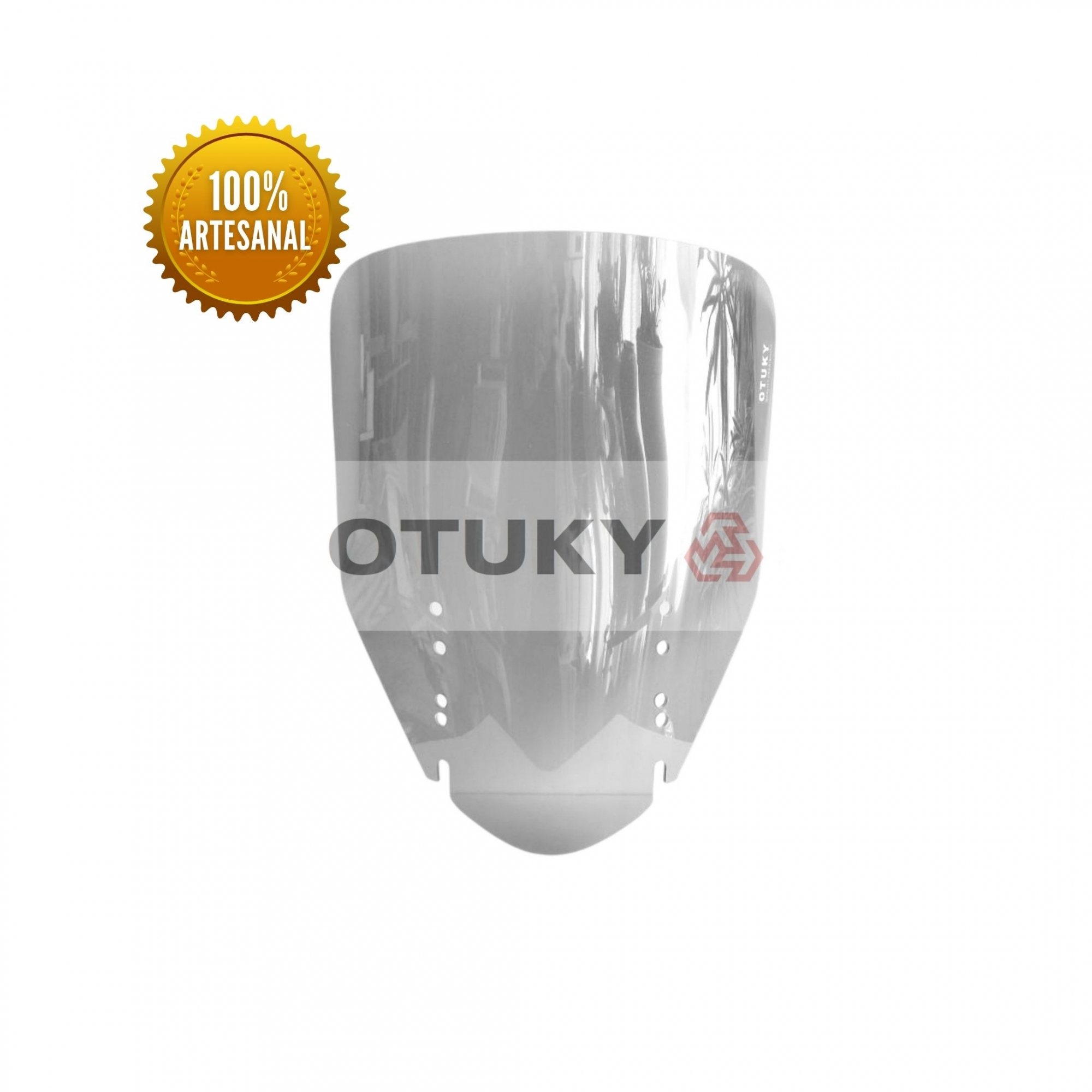 Bolha para Moto V-Strom DL 650 1000 2004 2013 Otuky Alongada Fumê Cinza