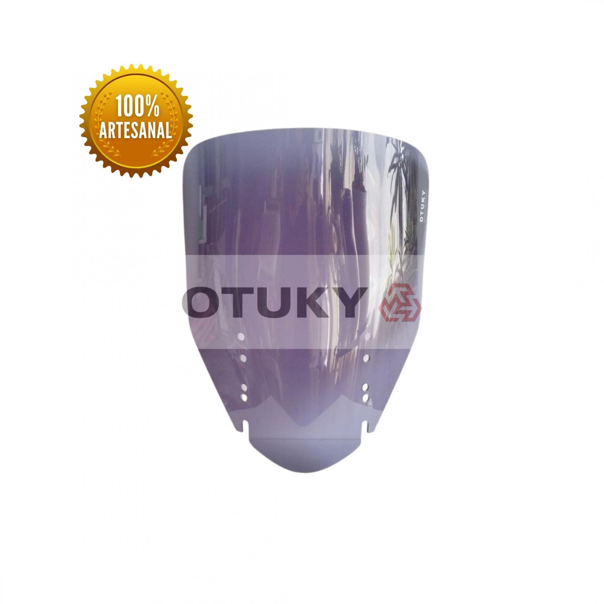 Bolha para Moto V-Strom DL 650 1000 2004 2013 Otuky Alongada Fumê Escuro