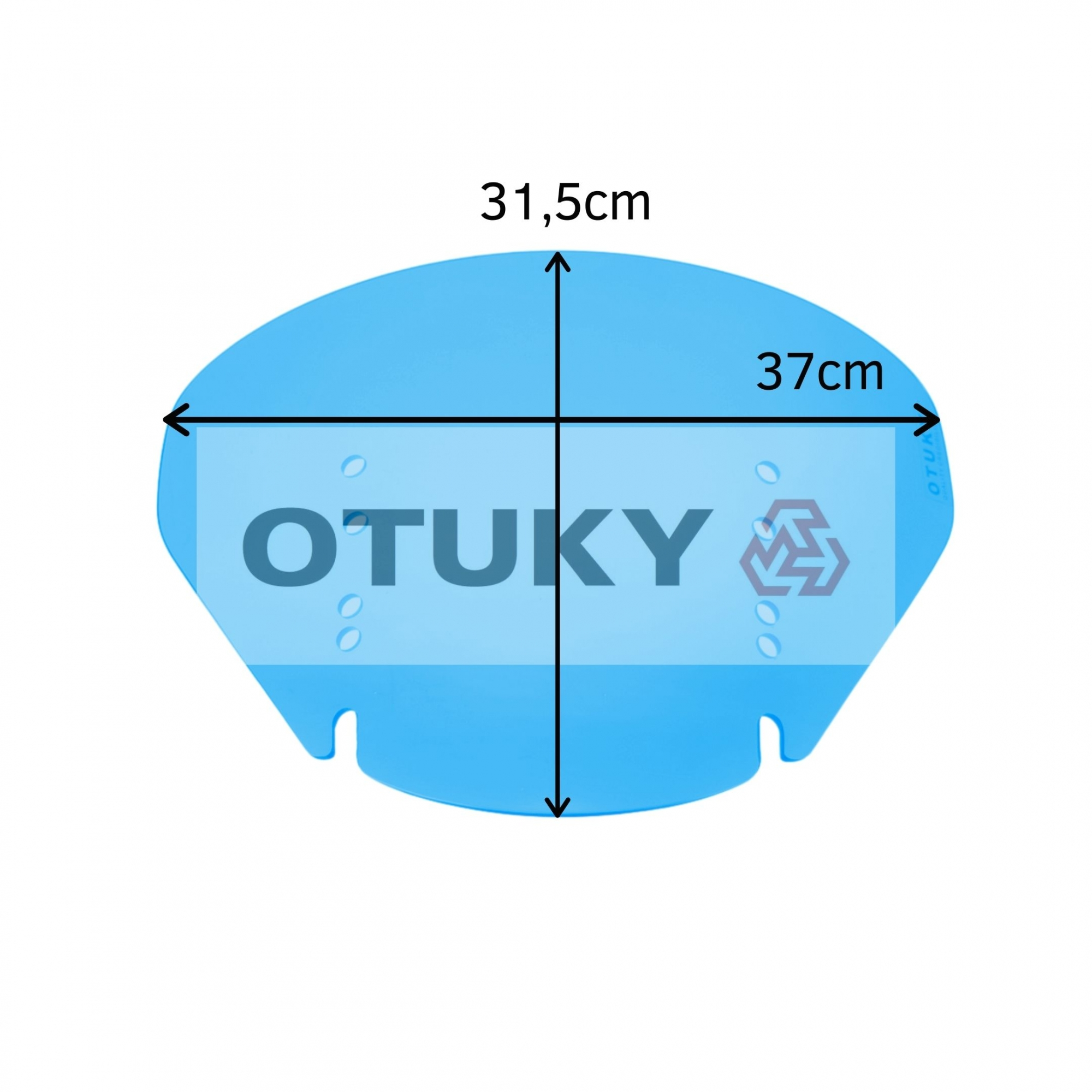Bolha para Moto V-Strom DL 650 1000 2004 Até 2013 Menor Otuky Azul Claro