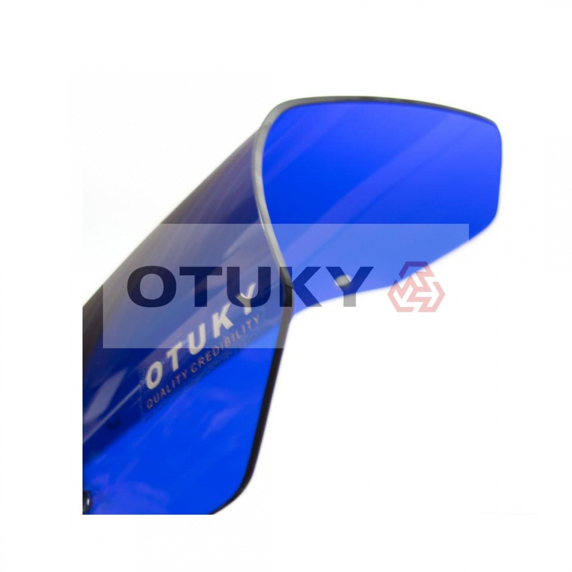 Bolha para Moto XT 660 R 2005 2006 2007 2008 2009 2010 2011 2012 2013 2014 2015 2016 2017 2018 Padrão Azul-Escuro