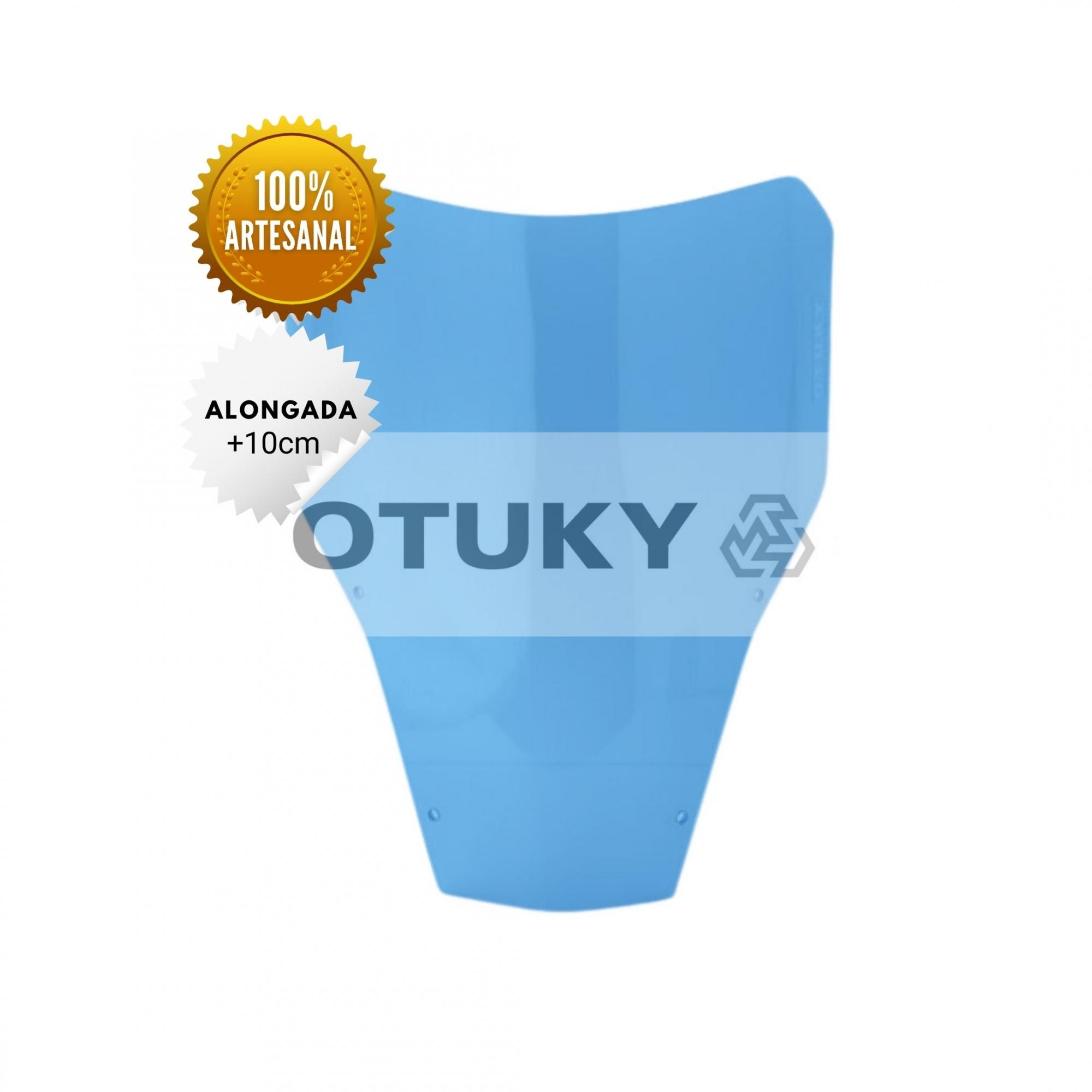 Bolha para Moto XT 660 R 2005 até 2018 Otuky Alongada Azul Claro