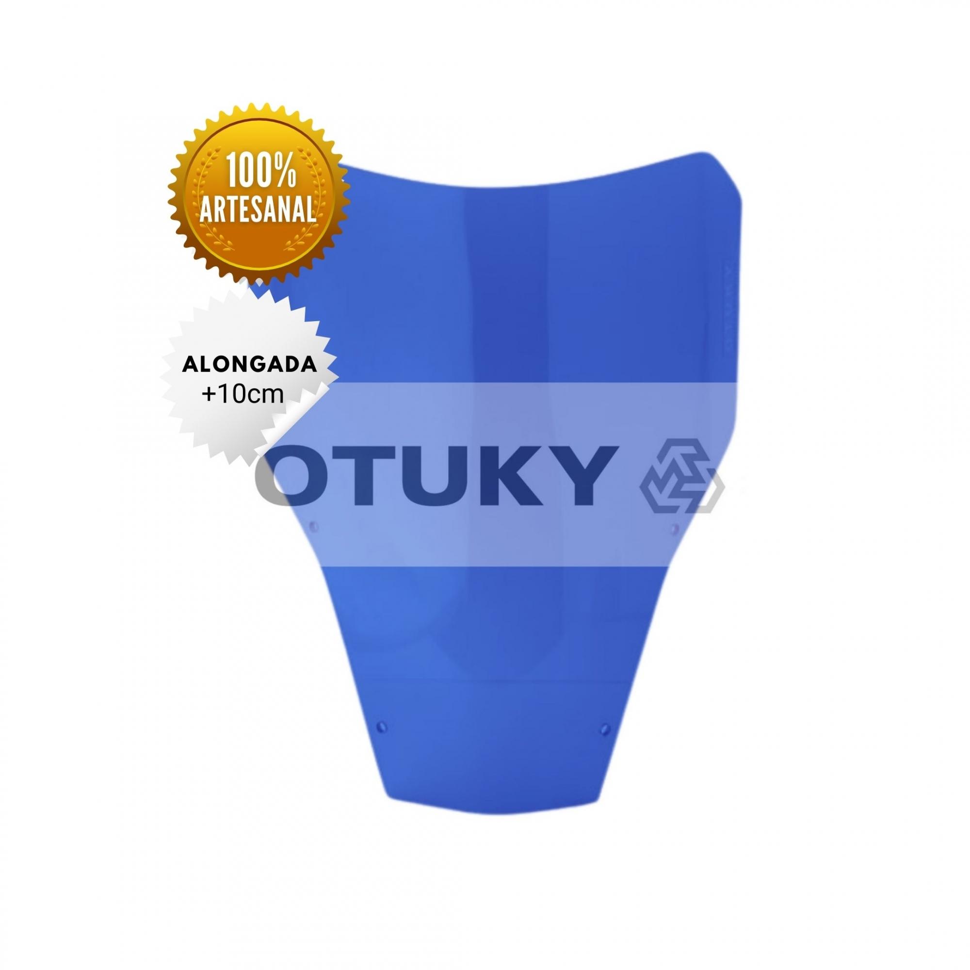 Bolha para Moto XT 660 R 2005 até 2018 Otuky Alongada Azul Escuro