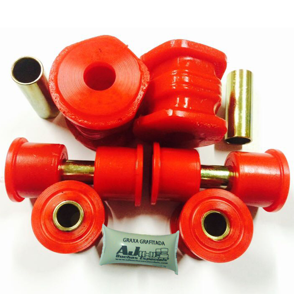 CRV 96 a 01 - Kit Buchas Inferiores e Tensor Dianteiro em Poliuretano - 06pç