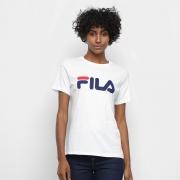 CAMISA FILA LETTER 819881 BRANCO FEMININO