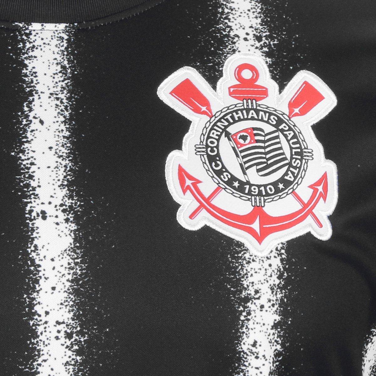 CAMISA CLUBE NIKE CORINTHIANS II 2021 CV7910 010 PRETO BRANCO MASCULIN