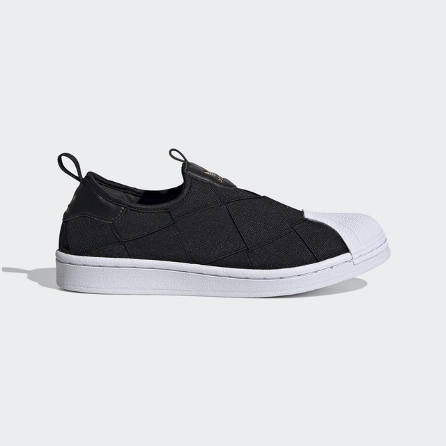 TENIS ADIDAS SUPERSTAR SLIP ON FV3187 PRETO BRANCO FEMININO