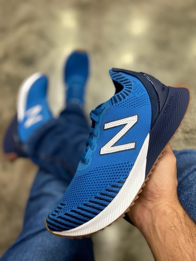 TENIS NEW BALANCE FUELCELL MFCECOB AZUL MASCULINO