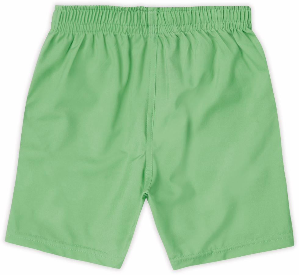 Bermuda infantil básica verde em algodão - Tam 8 a 16 anos