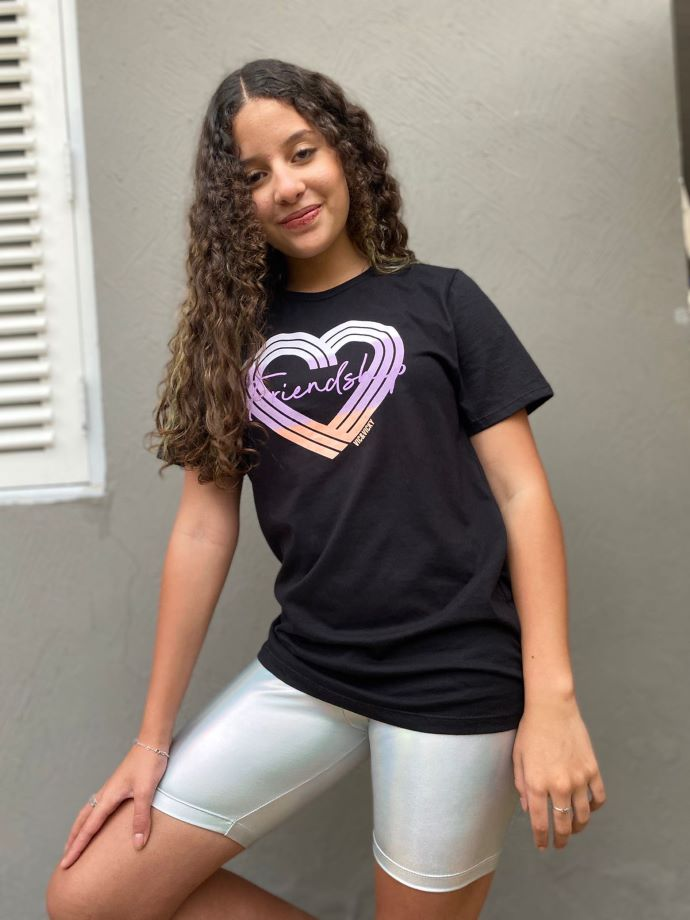 Bermuda infantil menina ciclista Vic metalizada -Tam 14 a 18 anos