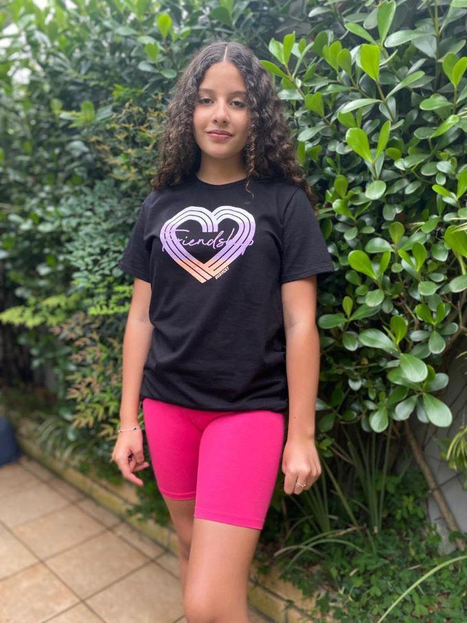 Bermuda infantil menina ciclista Vic Rosa -Tam 16 a 18 anos