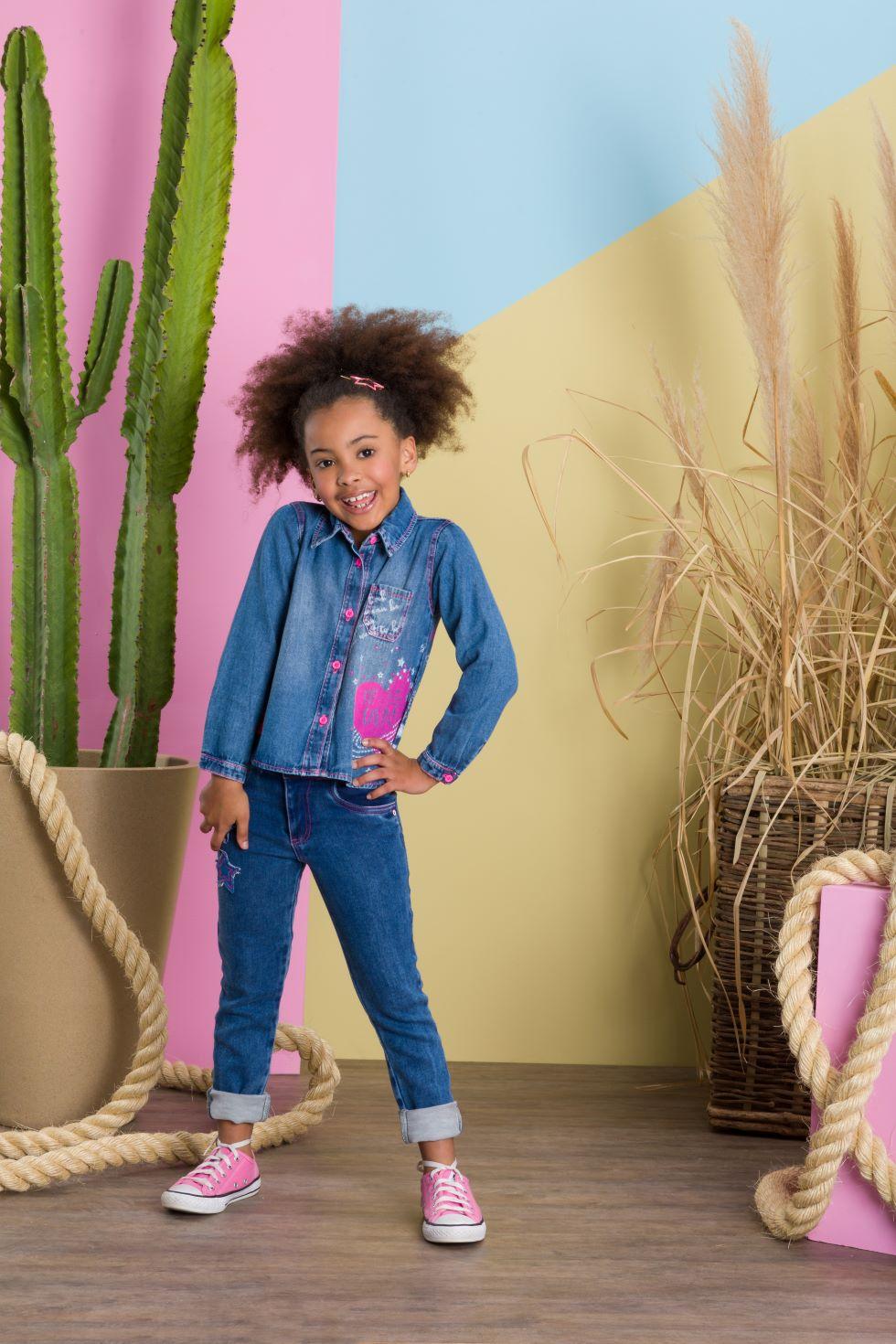 Calça Jeans  Estrela - Tam 08 a 12 anos
