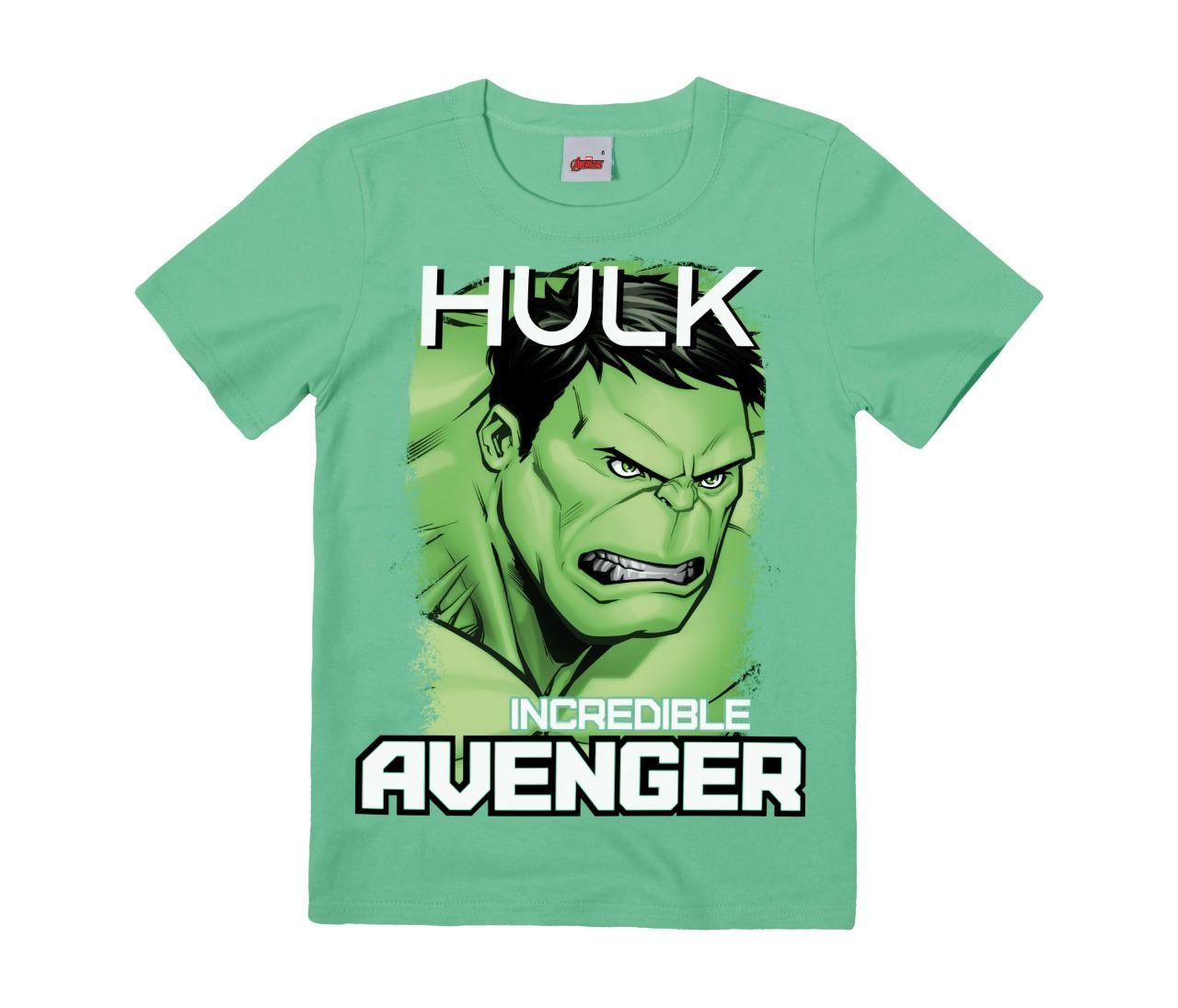 Camiseta básica do Hulk - Tam 4 A 12 ANOS